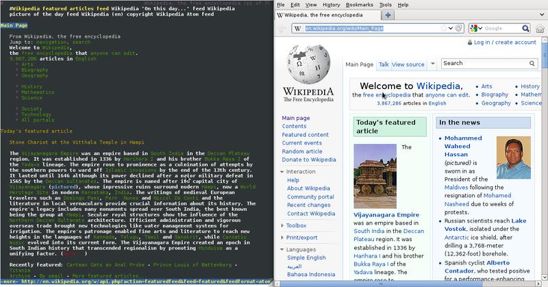 Lynx vs Firefox rendering