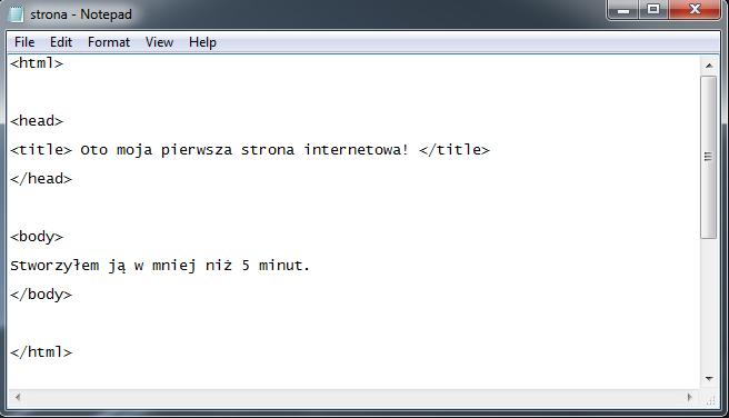 strona podstawowe komendy html 1