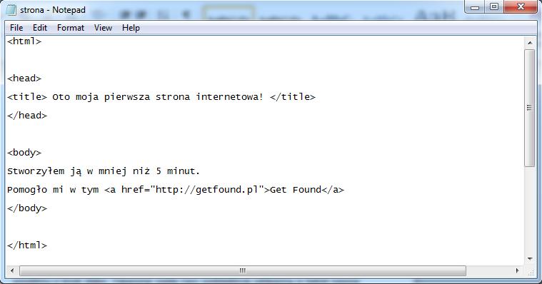 strona podstawowe komendy html 2