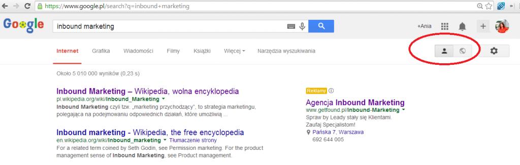 google plus wyszukiwanie prywatne