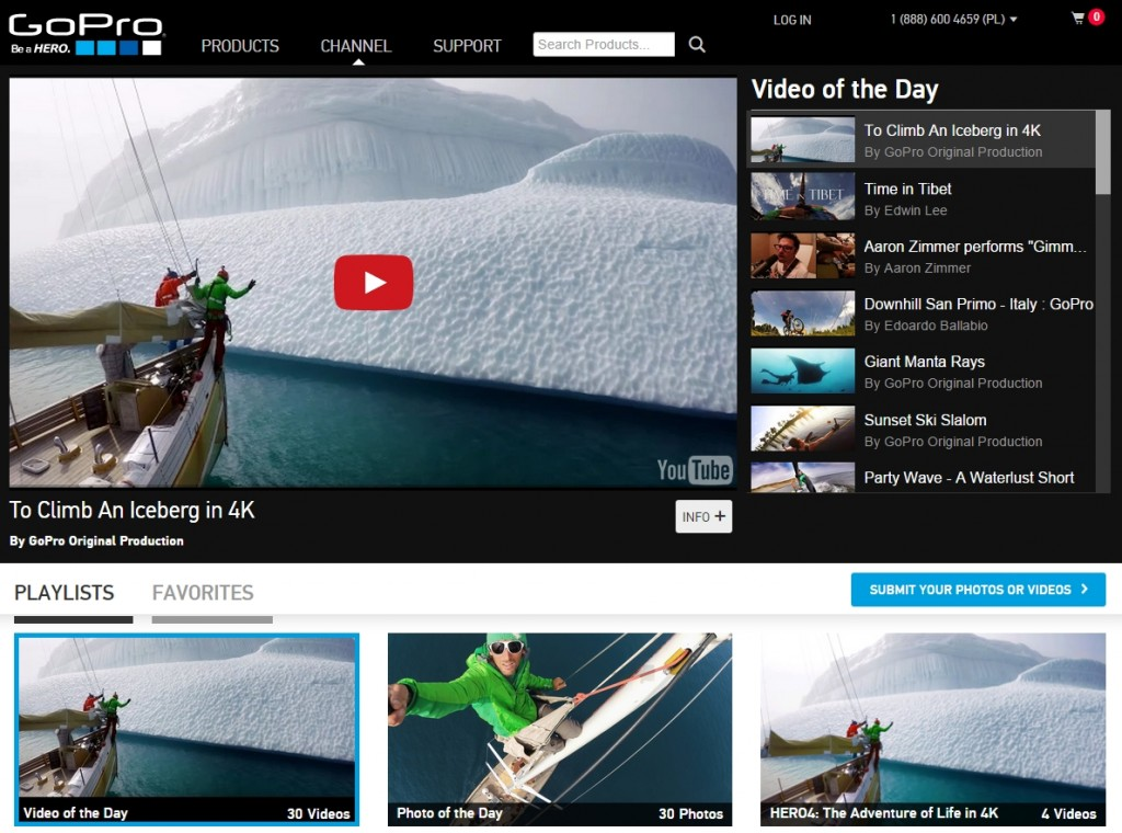 GoPro user generated content